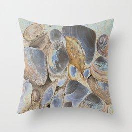 Seashell Abstract Throw Pillow