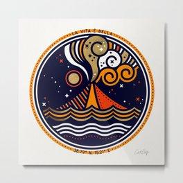 La Vita è Bella – Mediterranean Volcano in Fire Palette Metal Print