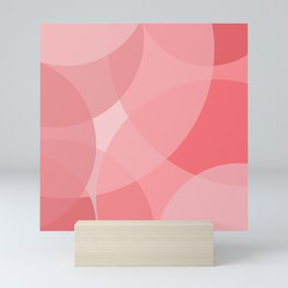 Pink circles Mini Art Print
