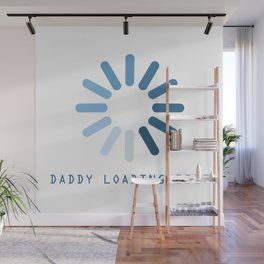 Baby Is Loading Boy Girl For Dad Announcement Gift Wall Mural