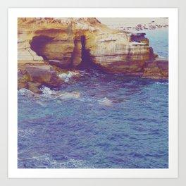 Cliffside Caves Art Print