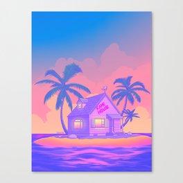 80s Kame House Canvas Print