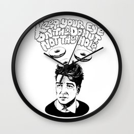"David Lynch ""Keep Your Eye on the Donut, Not the Hole"" Wall Clock"