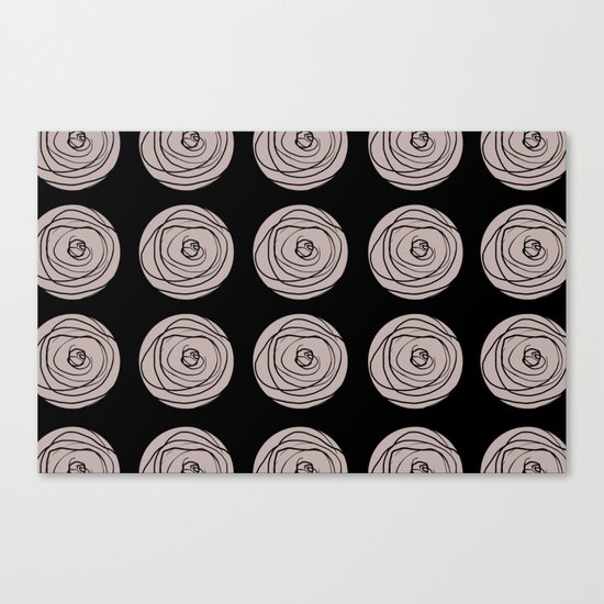 Swirly Dot Pattern Canvas Print