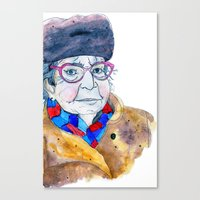 soviet Canvas Prints featuring Soviet babushka by Miurita