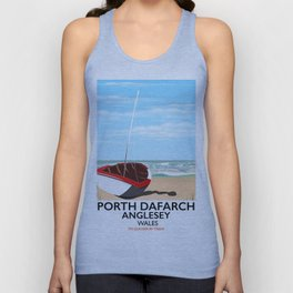 Porth Dafarch, Anglesey vintage travel poster Unisex Tank Top