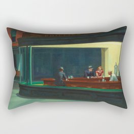 Nighthawks by Edward Hopper Rectangular Pillow