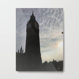 Big Ben w  sunset Metal Print