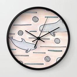 risso's dolphin Wall Clock