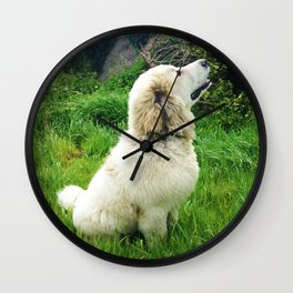 Dream Big - Great Pyrenees Puppy Wall Clock