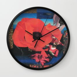 Collage After O'Keefe Wall Clock