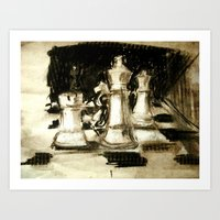 chess Art Prints featuring Chess by James Peart