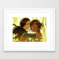 korrasami Framed Art Prints featuring Korrasami by TiuanaRui