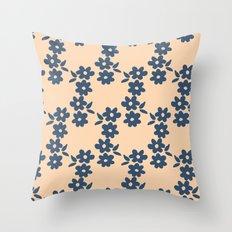 Aztek floral blue 1 Throw Pillow