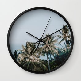 palm trees xv / phi phi islands, thailand Wall Clock