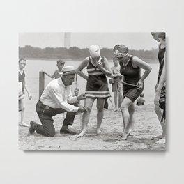 Beach Police, 1922. Vintage Photo Metal Print
