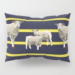 Yellow Stripes & Sheep Pillow Sham