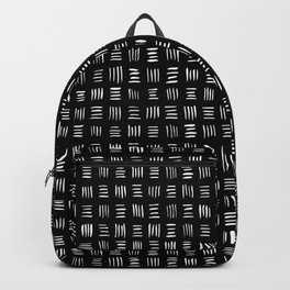 Lines on Lines // white Backpack