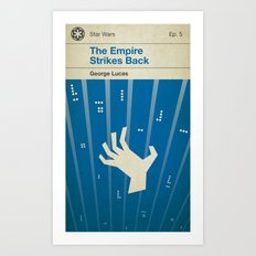 The Empire Strikes Back, if it were a Penguin Book. Art Print