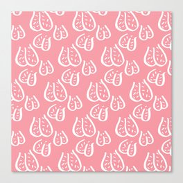 Balls Balls Balls Y'all - pink & white Canvas Print