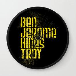 Ben Jerome Hines Troy / Black Wall Clock