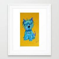 westie Framed Art Prints featuring Westie dog by K.ForstnerArt
