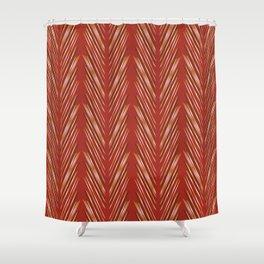 Wheat Grass Terra Cota Shower Curtain