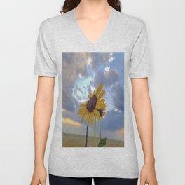Roadside Sunflower Unisex V-Neck