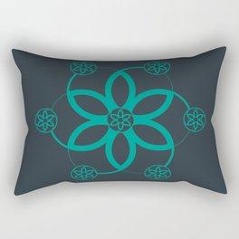 Evolution | Alien crop circle | Sacred geometry Rectangular Pillow