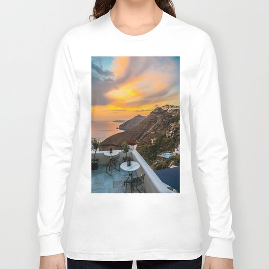 Gorgeous Santorini b Long Sleeve T-shirt