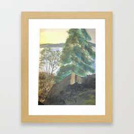 Vacation Mountains Framed Art Print