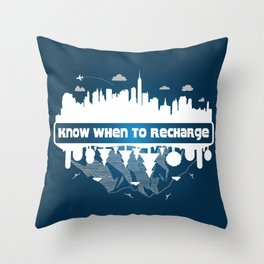 Soul Recharge Throw Pillow