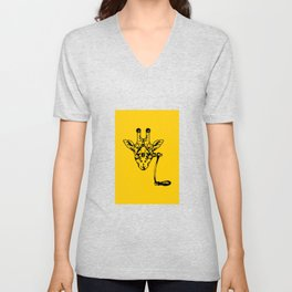 Coffee Giraffe Unisex V-Neck