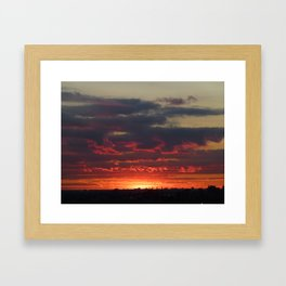 Sunset/Cityscape 1 Framed Art Print