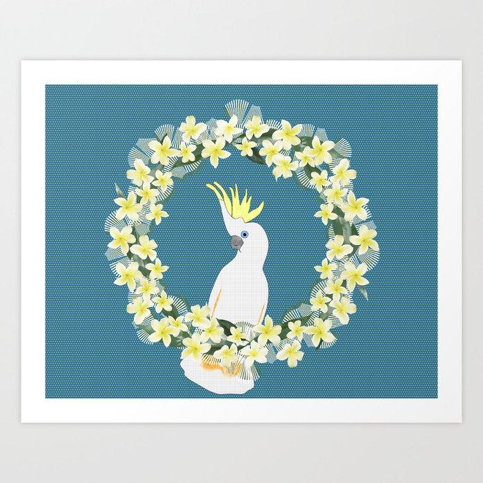 Sulphur Crested Cockatoo Art Print