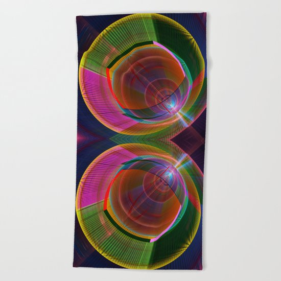 Colourful geometric abstract Beach Towel