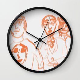 3 dudes Wall Clock