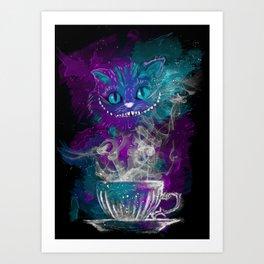 Chesire's tea Art Print