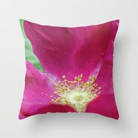 hot pink Throw Pillows featuring Hot Pink by Astrid Ewing