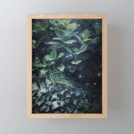 Green Fairy Garden Fireflies Lightning Bugs Magical Fantasy Nature Photography Framed Mini Art Print