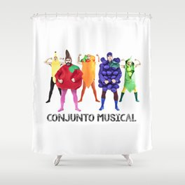 Human Vegetables Shower Curtain