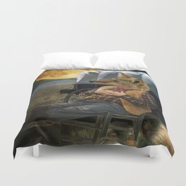 Tom Coyote in Deep Thought Duvet Cover