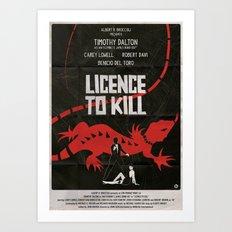 LICENCE TO KILL Art Print