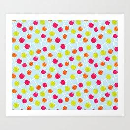Watercolour Lolly Pops, Watercolor Popsicles Art Print