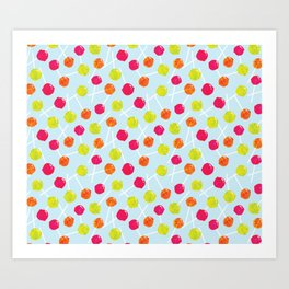 Watercolour Lolly Pops, Watercolor Popsicles Art Print