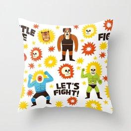 Wrestlers Throw Pillow
