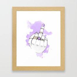F*%k You Framed Art Print