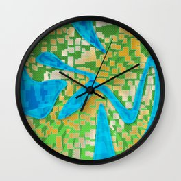 Neon Extrusion II Wall Clock