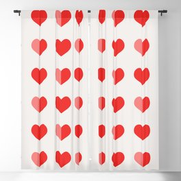 In Love with Hearts Blackout Curtain