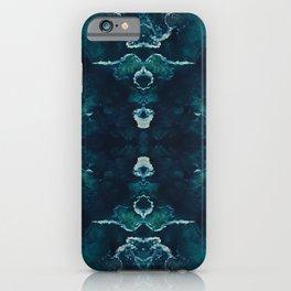 Symmetry Image of Ocean Bubble Waves iPhone Case